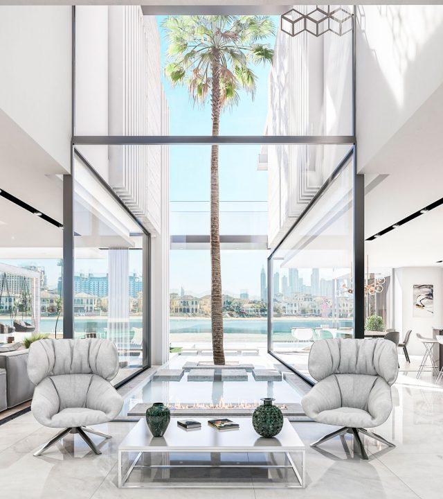 luxury-villa-dubai-Glass Handrail